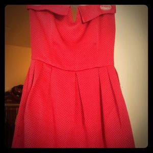 Beautiful Rory Beca sweetheart dress size 4 red